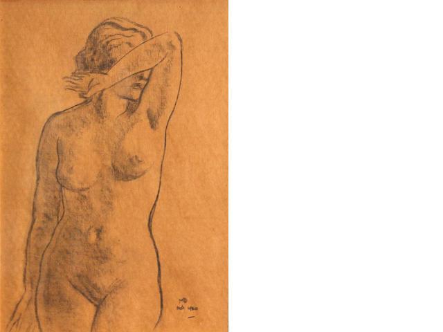 Maynard Dixon, Nude torso, 14 x 9in Maynard Dixon, Nude torso, 14 x 9in