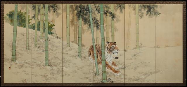 Asami Kojo (1890-1974)<br>Tiger and bamboo