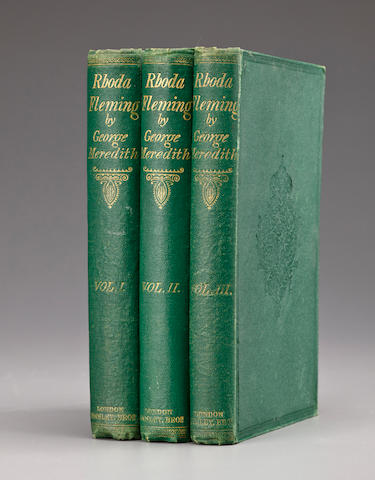 MEREDITH, GEORGE. 1828-1909. Rhoda Fleming. A Story. London: Tinsley Brothers, 1865.