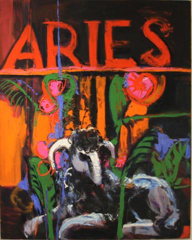 Henrietta Berk (American, 1919-1993) Aries ram 60 x 48in