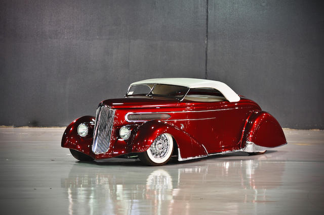 "Built by noted hot rodder Rick Dore,1936 Ford Model 68 Custom Roadster ""Razmataz""  Chassis no. 182606290"