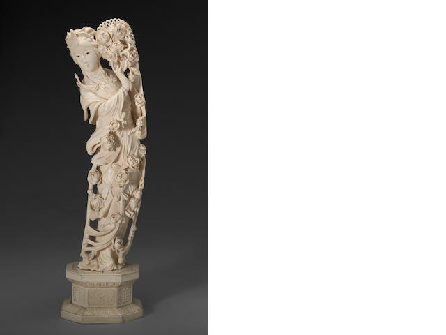 An ivory standing beauty 20th century