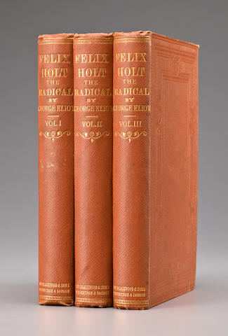 ELIOT, GEORGE. 1819-1880. Felix Holt The Radical. Edinburgh and London: William Blackwood and Sons, 1866.
