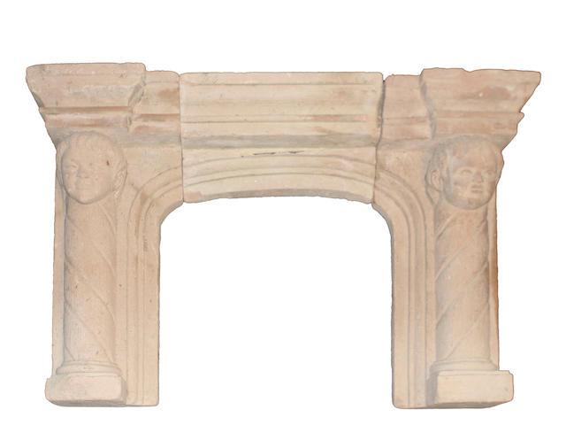 A Renaissance style stone fire surround