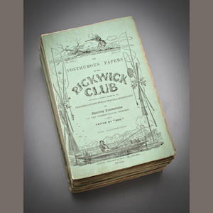 Dickens, Charles The Posthumous Papers of the Pickwick Club. Chapman and Hall, London, 1836-37