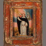Charcas School Saint Thomas Aquinas; The Crucifixion (2) first, 6 x 4 1/4in; second, 8 3/4 x 6 3/4in