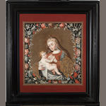 Potosí School The Virgin nursing the Christ Child 23 1/4 x 21 1/2in