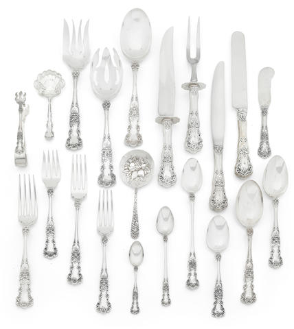 **On Inspection** A Gorham sterling Roseville pattern suite of flatware