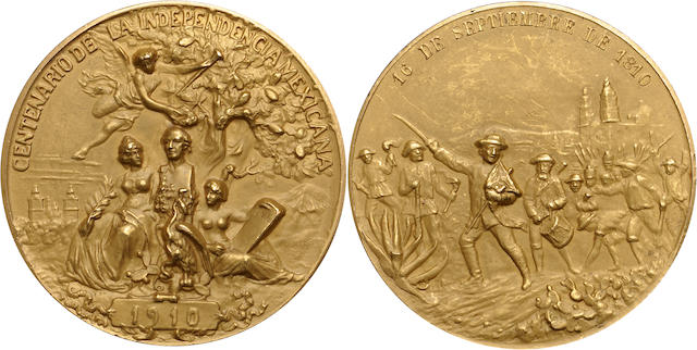 Mexico 1910 Centennial Gold Medal of Independence