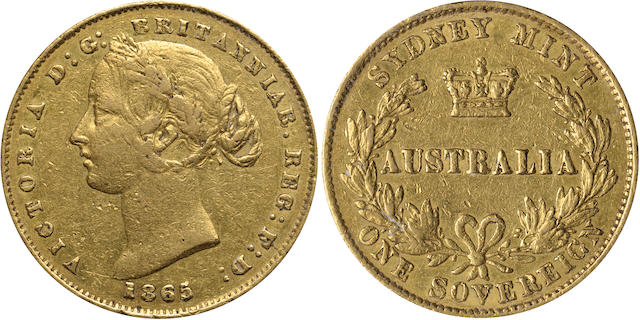 Australia, 1865-S Sovereign