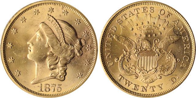 1875-S $20