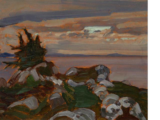 James Edward Hervey MacDonald (Canadian, 1873-1932) Near Petite Riviere, Nova Scotia