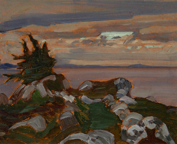 James Edward Hervey MacDonald (Canadian, 1873-1932) Near Petite Riviere, Nova Scotia