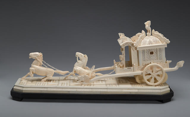 A pieced ivory model of an imperial carriage 20th century