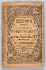 BEETON, MRS. ISABELLA. 1836-1865. Beeton's Book of Household Management. London: S.O. Beeton, [1859-1861].