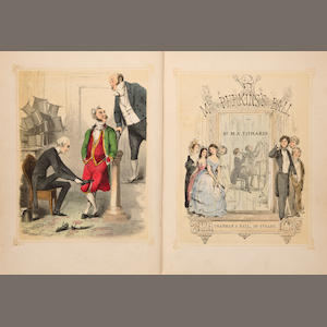 THACKERAY, W.M., MR. TITMARSH. 1811-1863. ****Mrs. Perkin's Ball. London: Chapman & Hall, 1847..