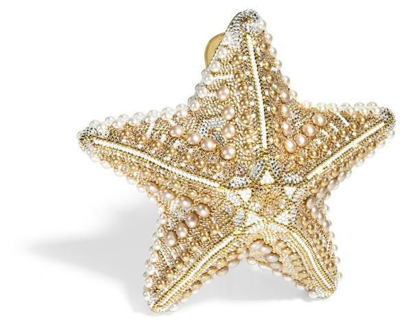 A gold starfish minaudiere,