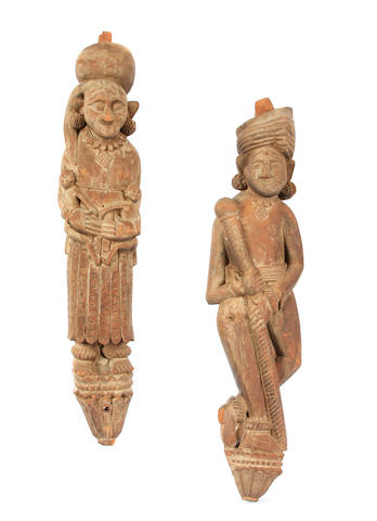 Two Southeast Asian carved wood figures