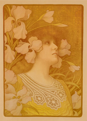 Paul Berthon (French, 1872-1909); Sarah Bernhardt;