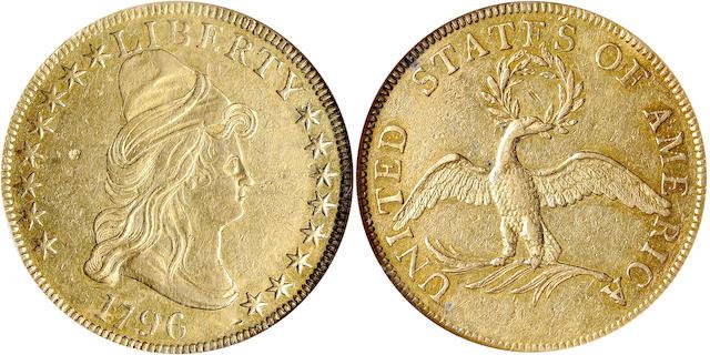 1796 $10 AU50 NGC