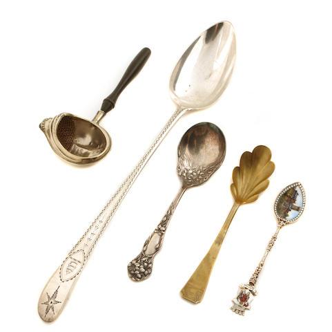 An  Irish George III sterling silver stuffing spoon John Keene, Dublin,  JK,  1799