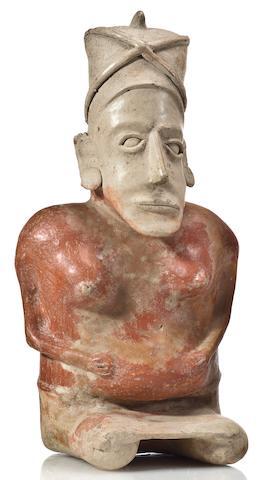 A Jalisco seated female figure