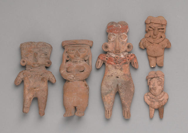 A group of five West Mexican figures