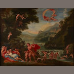 After Francesco Albani Venus and Adonis 29 x 36 1/4in