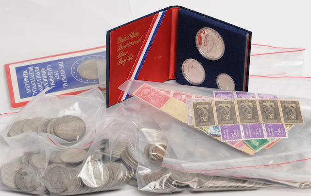 Group of Miscellaneous US Silver Coinage, mostly 1964 and prior