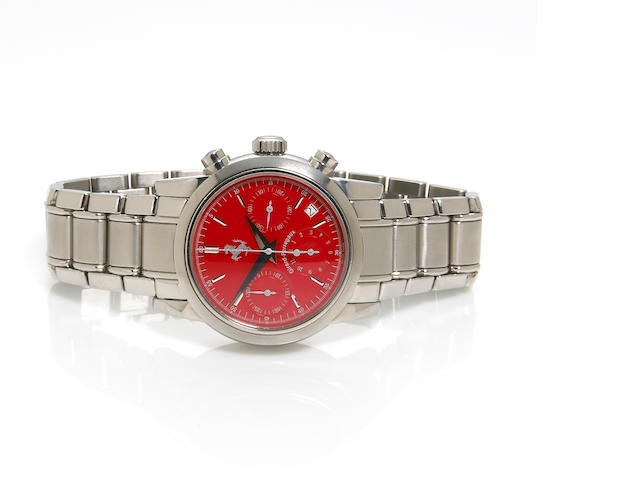 Girard Perregaux for Ferrari. A stainless steel calendar chronograph and bracelet wristwatch