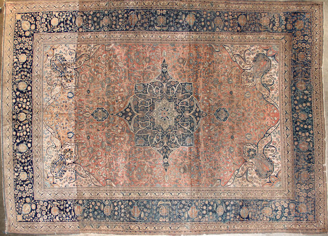A Mohtasham Kashan carpet size approximately 8ft. 7in. x 12ft. 1in.