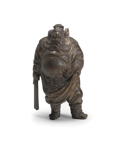 A small wood sculpture of Shoki 19th century