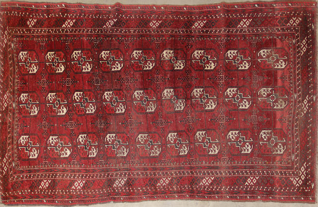 A Turkoman rug size approximately 4ft. 7in. x 7ft. 5in.