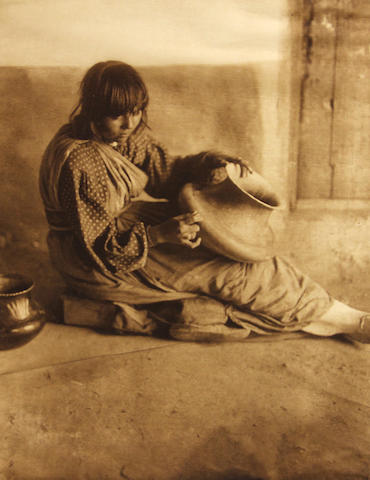 Edward S. Curtis (American, 1868-1952); Edward Curtis The Potter - Santa Clara, Pl. 602, from The North American Indian;
