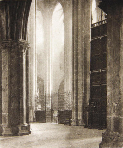 Frederick Henry Evans (British, 1853-1943); Height and Light in Bourges Cathedral;