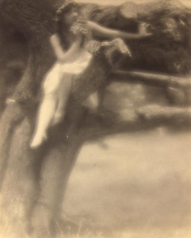 Arthur F. Kales (American, 1882-1936); Nymph in Tree;