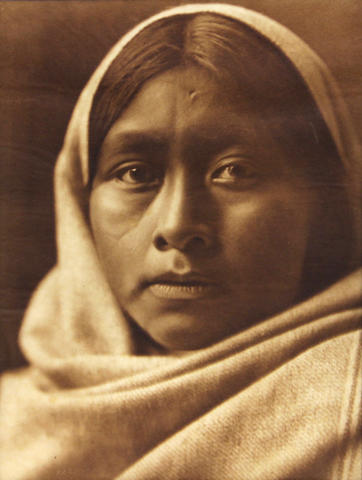 Edward S. Curtis (American, 1868-1952); Pima Matron, Pl. 46; Papago Girl, P. 48; Pakit-Maricopa, Pl. 70, from The North American Indian; (3)