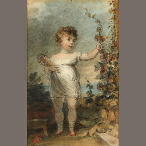 English School, early 19th Century  A portrait of a young child