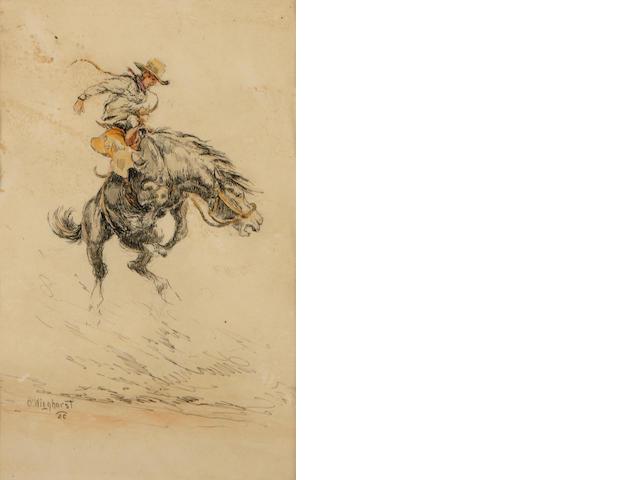 Olaf Wieghorst, Bucking Bronco