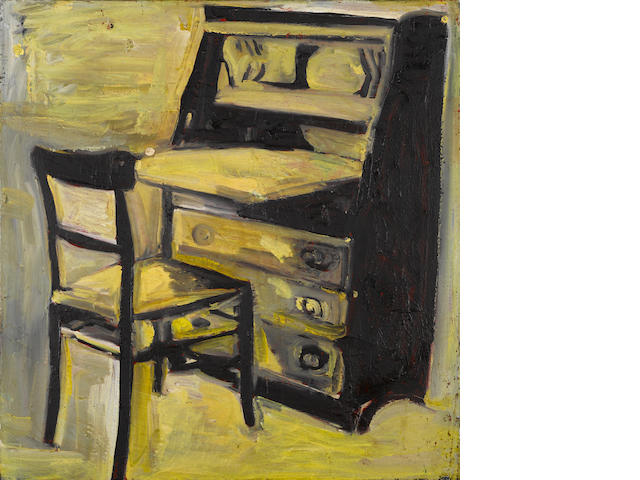 Roger Herman (German, born 1947) Chair and Desk, 1986 22 x 21in