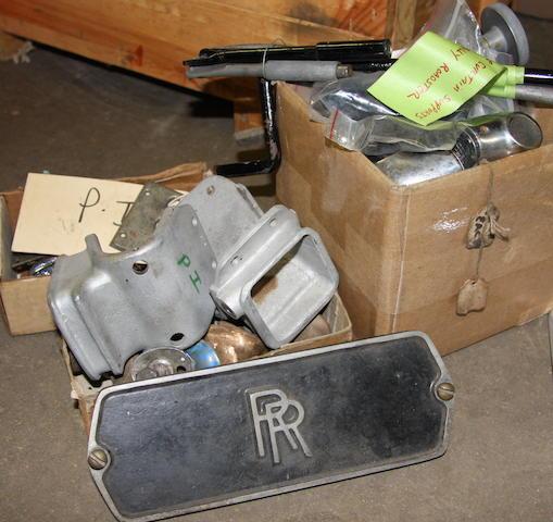 A quantity of Rolls-Royce Phantom I body hard ware