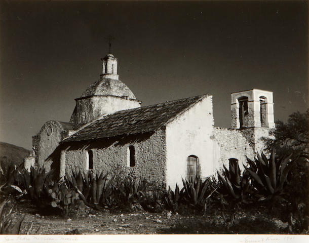 Ernest Knee (American, 1907-1982); San Pedro Mission Mexico 1941  11 x 14;