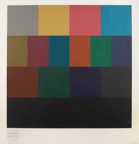 Sol LeWitt (American, 1928-2007); All One-, Two-, Three- and Four Part Combinations of Four Transparent Colors;