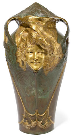 A Gerhocs parcel gilt-bronze umbrella stand