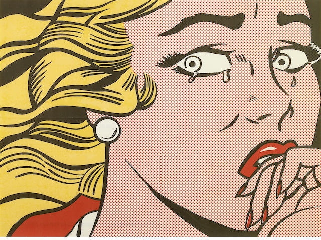 Roy Lichtenstein (American, 1923-1997); Crying Girl (mailer);