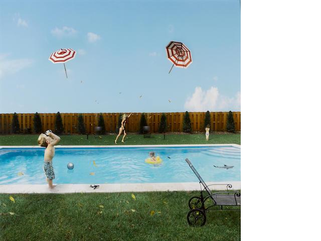 Julie Blackmon (American, born 1966); Flying Umbrellas;