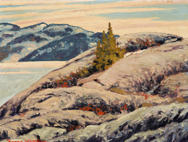 Francis Hans Johnston, ARCA, OSA, CSPWC (Canadian, 1888-1949) Rocks of a Million Years, Great Bear Lake