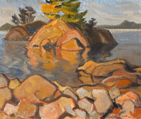 Henry George Glyde (British/Canadian, 1906-1998) Quiet Corner, Pender Island B.C.