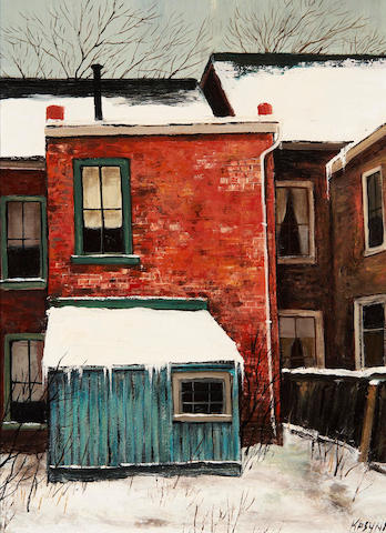 John Kasyn (Canadian, 1926-2008) Two views: Off Montague St. and <br>Backyard on Major St.