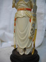 An ivory figural carving of Mulan	 20th century